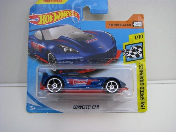 Corvette C7.R Blue Hot Wheels Speed Graphics-2018-FJY32
